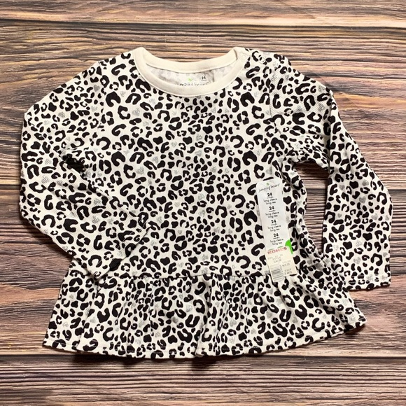 de418ae7b jumping beans Shirts & Tops | Jumping Bean Long Sleeve Leopard Print ...